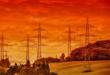Stromleitungen 110x75 - Wärmekraftwerke - Strom aus Kohle und Gas